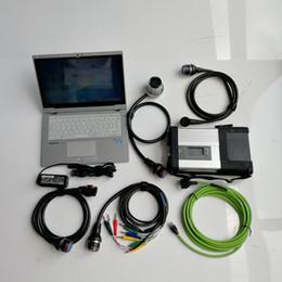 herramientas de diagnóstico usadas Rebajas Mb Star C5 SD Connect C5 con baterías P-anasonic CF-AX2 I5 8G 2 usadas y Mini SSD V03.2019 para herramientas de diagnóstico de Mercedes automático
