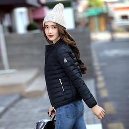 2019 casacos femininos europa Europa e América Moda Jacket curto Mulheres Outono e Casaco de Inverno fina fêmea claro Cotton Padding Mais de Coats Tamanho 3xl casacos femininos europa barato
