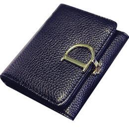 Portafogli e portamonete da donna 2019 Chiusura a scatto Chiusura corta Portafoglio Moda Piccola borsa da donna Borsa corta Portafoglio donna di moda da