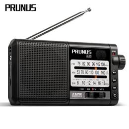 2019 gravador de rádio digital PRUNUS J-01 Clássico rádio retro fm portátil USB / TF Cartão de Música Player Rádio Digital Recorder Receiver com bateria 2200 mah gravador de rádio digital barato