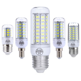 галогенные лампы Скидка E27 E14 GU10 G9 B22 светодиодные лампы Corn Super Bright 5730 7W / 12W / 15W / 18W / 20W теплый / белый 110V 220V для люстры