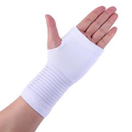 2019 guantes de guardia de muñeca Soportes de muñeca Protector Fitness Gym Guardia de muñeca Artritis Brace Manga Soporte Guante Transpirable Elástico Palm Hand guantes de guardia de muñeca baratos