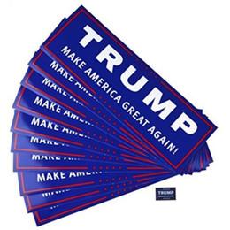 2019 impressão de adesivo de vinil Donald Trump Para O Presidente 2020 Bumper Corpo Etiqueta Do Carro Manter Fazer a América Grande Decoração Estilo Do Carro Moda 23 cm x 7.6 cm DLH253