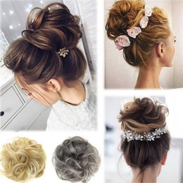 Cabelo puffs acessórios on-line-2019 New Arrival venda Hot Free Style Curler peruca de cabelo Puff Bud elásticas tiaras de cabelo gravata / acessórios femininos presentes 7C0719