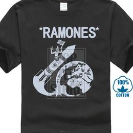 Vintage punk rock t shirts on-line-Vintage 80 S Ramones Foguete Para A Rússia Punk Rock Tour Concerto Promo T Shirt Estranho Coisas Projeto T Camisa 2018 Novo