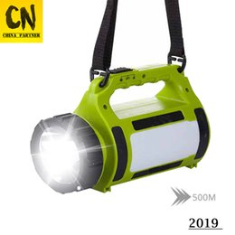 El foco de luz más alto online-En stock Luz LED de alta potencia Proyector Reflector Antorcha de 20000 lúmenes Luz de camping Luz roja roja + luz blanca 5 modos de iluminación