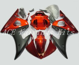 yamaha r6 orange black Promo Codes - High quality New ABS motorcycle fairings fit for YAMAHA YZF R6 2003 2004 2005 YZF R6 03 04 05 bike fairing kits custom orange black