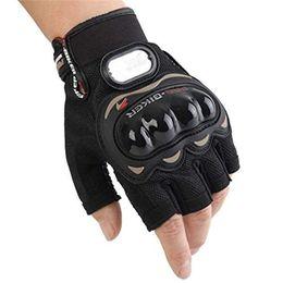Мотоциклетные перчатки байкер онлайн-Racing Gloves Перчатки для мотоциклистов Мотоциклетные перчатки Powersports Half Finger Перчатки Heavy Duty Anti-slip Biker guard байкер инструмент спортивные аксессуары
