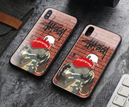 мальчики телефонные чехлы Скидка Роскошные Sup Телефон Случаях Прохладный Мальчик Закаленное Стекло Задняя Крышка Мода Desinger Протектор для iPhone X XS XR Xs Макс 6 6 s 6 плюс 7 7p 8 Plus