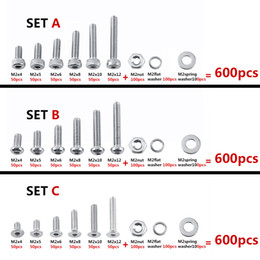 Livraison gratuite 600pcs / Set vis à six pans creux boulon écrou Assortiment Kit M2 304 rondelles en acier inoxydable attaches outils de réparation de meubles ? partir de fabricateur