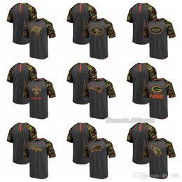 9ee6c7800 Men Pro Line by Branded Broncos Buccaneers New York Jets Patriots Buffalo  Bills Cardinals Heathered Gray Camo Recon Camo Raglan T-Shirt