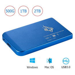 Discos portáteis on-line-Portable 2TB 1TB 500GB 2.5 inch USB 3.0 External Hard Disk Drive HDD SATA III Mobile Hard Disk HD For Desktop PC Computer Laptop