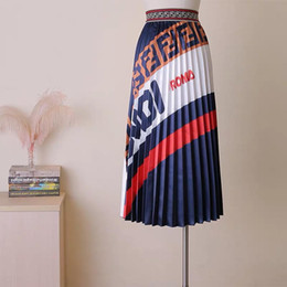 2019 Mode Élégante Taille Haute Longue Maxi jupe Vintage Jupe D'été Contraste Couleur Femme Femmes Casual Dames Jupe À Plis Longue Jupe ka-p4 ? partir de fabricateur