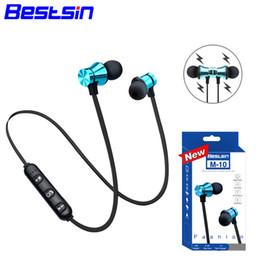 Bestsin M10 bluetooth sans fil 4.1 casque casque stéréo sport dans l'oreille écouteur microphone en cours d'exécution pour Iphone XS Iphone XR Iphone XSMAX ? partir de fabricateur