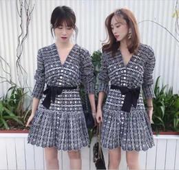 a135421c2388 2019 mini abito ricamato Abito donna primavera 2019 primavera e l estate  nuovo elegante scollo