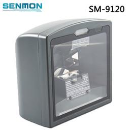 mejores escáneres de código Rebajas La mejor calidad 1D Laser Omni direction Escáner de código de barras de escritorio Escáner de código de barras de superficie plana para supermercado