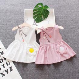 2019 vestidos de bebê Baby Girl Roupas 3D Girassol Princesa Vestidos Sem Mangas Menina Floral Vestidos Criança Bebê Sundress Verão Roupa Dos Miúdos Atacado YW3385 desconto vestidos de bebê