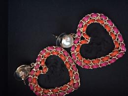 Canada Nouvelles grosses boucles d'oreilles en couleur! Boucles d'oreilles de désherbage de luxe de marque fashion, boucles d'oreilles pour femmes avec des sacs en flanelle pour cadeau Offre