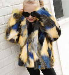 2019 dünne braune lederjacke Mädchen Kleidung Kinder Baby Mädchen stilvolle pelzigen Kunstpelz Mantel Wasserfall Winter warme Kleidung Kunstpelz dicken festen Mantel Outwear