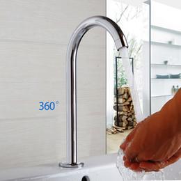 Sensore a parete online-Rubinetto per lavabo da bagno cromato OUBONI Rubinetto con sensore a parete Rubinetto automatico per lavello a mano