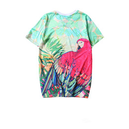 60bfd6b94fc5 2019AD T-shirt summer hot sale brand men and women models clover  short-sleeved red parrot T-shirt couple models T-shirt casual short sleeve