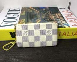 2019 bolsas famoso designer Nova moda KEY POUCH Couro Real detém Couro famoso designer clássico mulheres chave titular moeda bolsa pequena bolsa de produtos de couro L01 bolsas famoso designer barato