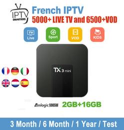 Canada Nouvel abonnement IPTV 6000 + Télévision en direct et VOD Abonnement Iptv France Europe Royaume-Uni Allemand Arabe Belgique Suède Français Iptv Set Top Box cheap vod box Offre