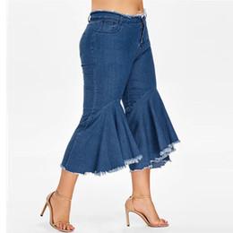 Tagliare stivali più corti online-Jeans per Donna Pantaloni Denim Donna estate Elastic Plus Pantaloncini di jeans larghi in vita Bottone Jeans a vita bassa con bottoni automatici