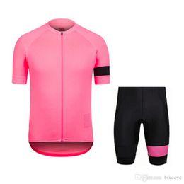 RAPHA team Cycling Short Sleeves jersey (bib) shorts set 2018 vendita calda traspirante racing wear MTB bici ropa ciclismo new C1720 da