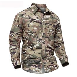 Camisa de camuflaje de secado rápido para hombres Camisa desmontable Entrenamiento al aire libre Escalada Transpirable Extraíble DOS Piezas Tácticas Tops desde fabricantes