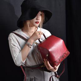 mochila de estrellas coreanas Rebajas Mochila de hombro del color sólido de la vendimia del bolso de hombro del bolso de la muchacha 2018 New Star mismo cuero Versión coreana