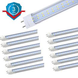 luces de techo de doble led Rebajas Luminaria para tubos LED T8, tubos LED de dos hileras, alimentado por doble extremo, luces de techo de garaje de cocina de oficina 25Pack