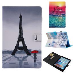 2019 подставка для краски Покрашенный PU кожаный чехол для планшетного ПК для iPad Air2 iPad 9.7 2018/2017 подставка для крышки слотов для карт Чехол для iPad 5 6 8 скидка подставка для краски