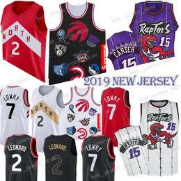 dc150d649949 15 camisetas de baloncesto Carter Toronto Kyle 7 Lowry Kawhi 2 Leonard  Raptors Venta caliente 18 19 Nuevo 100% cosido Jersey HOMBRES