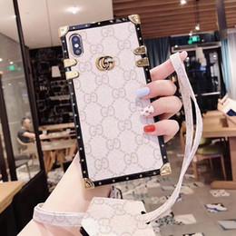 cubiertas textiles Rebajas Una pieza de lujo para el teléfono iphone xr funda para iPhone 7 8 Plus, nuevo diseñador de moda con contraportada con cordón
