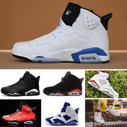 best service 77375 659c4 1 4 6 11 12 13 Retro zapatos de baloncesto carmín Classic 6s UNC negro azul blanco  infrarrojo cromo bajo mujeres hombres deporte azul rojo oreo alternativo ...
