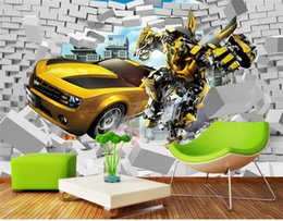wood cars for kid Coupons - custom size 3d photo wallpaper living room kids room mural car brick wall 3d cartoon picture sofa TV backdrop wallpaper non-woven sticker