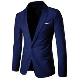 mantel wein farbe Rabatt Mode Männer Anzug Jacke Business Casual einzigen knopf hochzeit mantel herren einfarbig wein party abendessen anzug Männliche dünne oberbekleidung