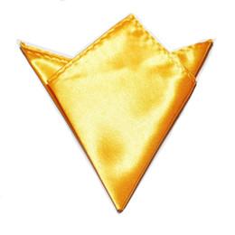 2019 feste seidentasche 2019 Einfarbig Einstecktuch Kopie Seidentuch Gelbgold Taschentuch Rotz-Lappen rabatt feste seidentasche