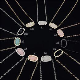 conjuntos de colares modernos Desconto Moda Kendra druzy Colar drusy Scott Brincos de prata banhado a ouro do falso pedra natural presente Jóias Scott Mulheres Marca