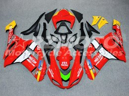 Carenado para kawasaki ninja rojo zx6r online-Kit de carenado de motocicleta ABS de alta calidad para Kawasaki Ninja 636 ZX6R 2007 2008 carenado de motocicleta personalizado rojo