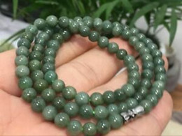 New Beautiful Green 6mm 8mm 10mm 12mm Emerald Gemstone Beads Necklace36/'/'