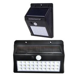 Feux de rue dirigés par modèle en Ligne-30 LEDs 3 Modèles Capteur Solaire Lumière Murale Solaire Extérieure Lampes À Économie D'énergie Lampe Home Jardin Cour Réverbères Led Light Light lumineux
