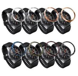 Adhesivo de bisel online-Acero inoxidable para Samsung Galaxy / S3 / S2 Frontier WATCH para reloj de pulsera Bisel Anillo Cubierta adhesiva Rasguños Reloj inteligente 42 / 46mm