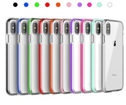 capas iphone dobro claro Desconto Casos de telefone para o iphone xs max duplas cores claro macio tpu phone case dropproof para iphone xr xs i7 / 8 plus 6/6 s plus 5s 5c