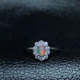 tamaño de anillo de plata 4.25 Rebajas mujer de unos anillos de ópalo natural cambian de color misterioso incendio de tamaño ajustable de plata 925