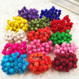 berry beads diy Coupons - Simulation of artificial mini frost glass beads berry bouquet DIY Christmas wreath materials   20 PCS 40 heads (14 cm beam)