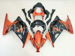 kits de carenagem kawasaki laranja Desconto Nova Injeção ABS Motocicleta bicicleta carenagens kits Fit Para kawasaki Ninja 300 EX300 2013-2017 Ninja 300 13 14 15 16 17 set orange preto legal