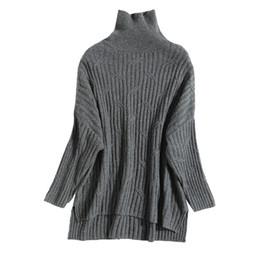 pura lã de caxemira Desconto 2019 Novo Padrão Senhoras De Malha De Lã Cashmere Suéter Cor Pura Longo Macio e Quente Estilo Grosso Pullover Roupas Femininas de Inverno