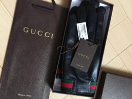 guanti meccanici xl Sconti g2019 maschile e femminile di alta qualità fibbia in metallo, in morbida pelle di moda ricamato e guanti della pelle di pecora, guanti caldi di alta qualità, le vendite della scatola,